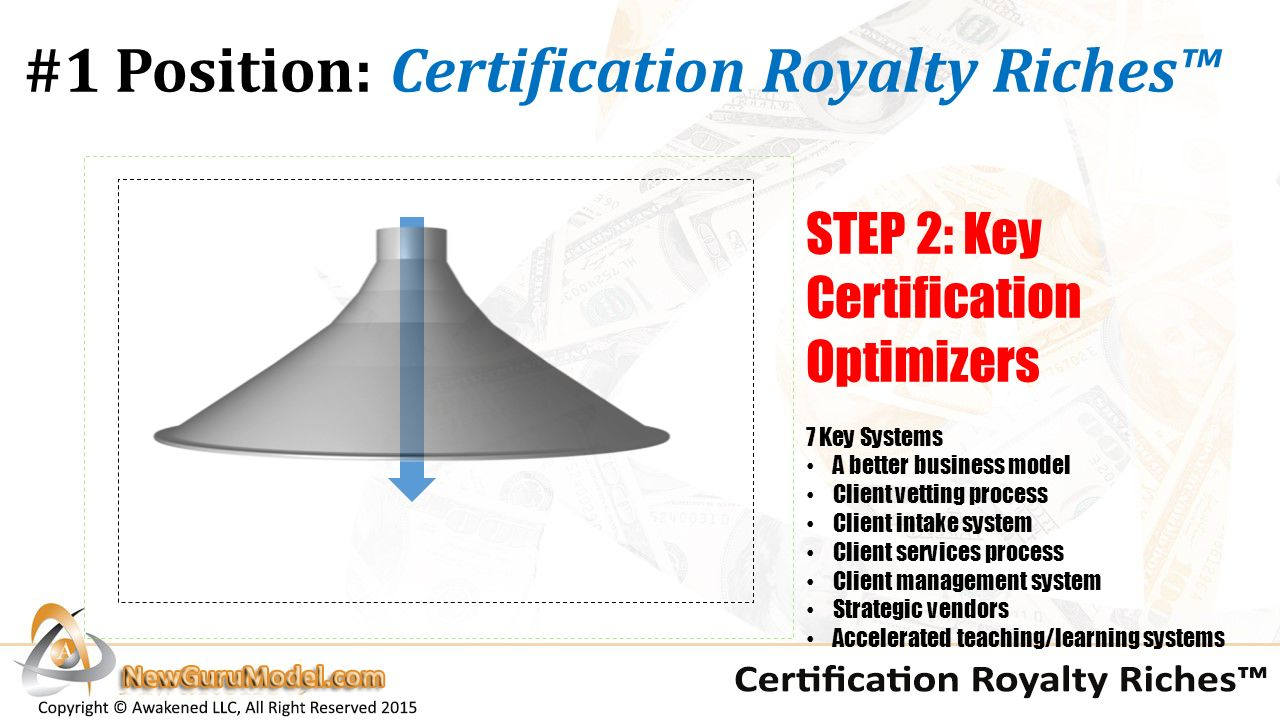Coaching co branding how to create a private white label 7 1 position certification royalty riches step 2 key certification optimizers 7 key systems a better business model client vetting process client intake xflitez Gallery