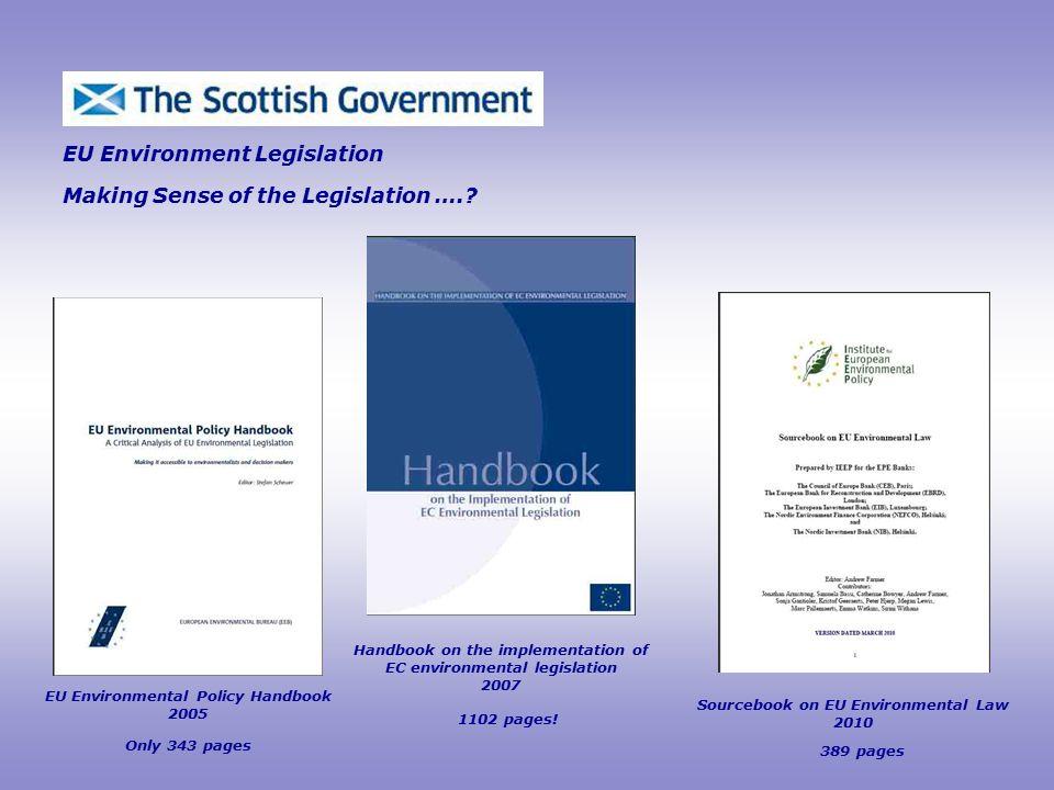 EU Environment Legislation Making Sense of the Legislation …..