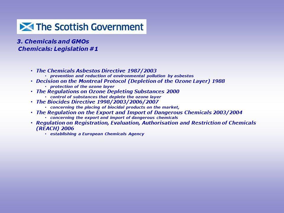 Chemicals: Legislation #1 3.