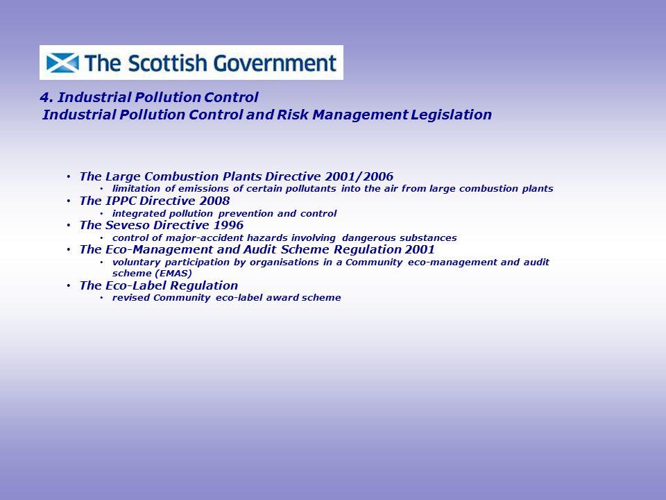 Industrial Pollution Control and Risk Management Legislation 4.