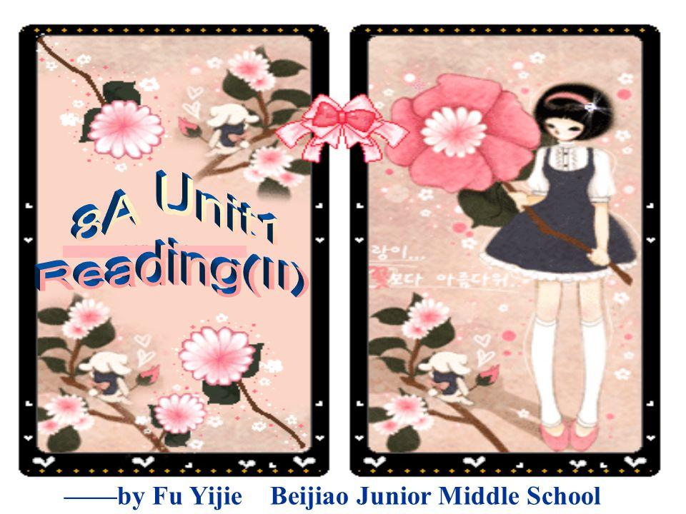 ——by Fu Yijie Beijiao Junior Middle School