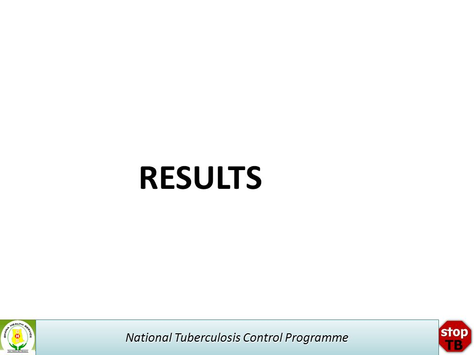 National Tuberculosis Control Programme RESULTS