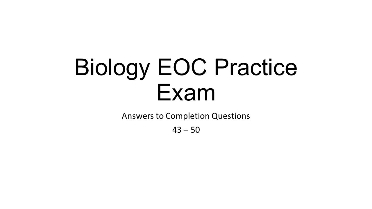bio practice exam Get free online clep biology practice test questions study for your clep biology test with our free clep biology practice questions.
