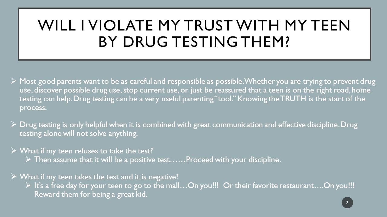 Will I get a drug test?