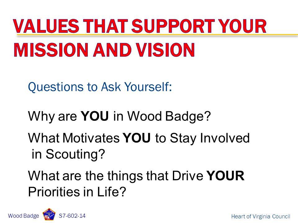 Heart of Virginia Council RICK BRAGGA Course Director Wood Badge S – Wood Badge Ticket Worksheet