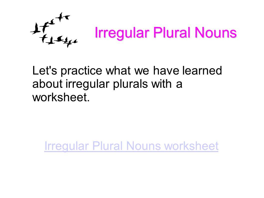 Level 3 Language Arts with Ms. Sheri Lesson 28 Irregular Plural ...