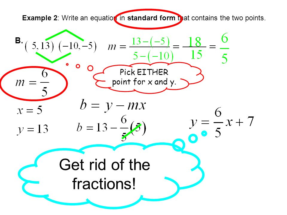 STANDARD FORM OF A LINEAR EQUATION Day 2 SECTION 5.5b. - ppt download