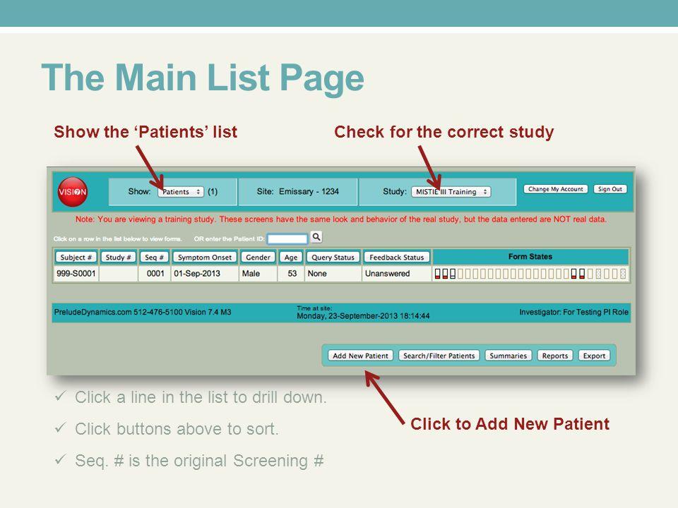 User Site Setup Mistie Iii Case Form Course User Profile Click