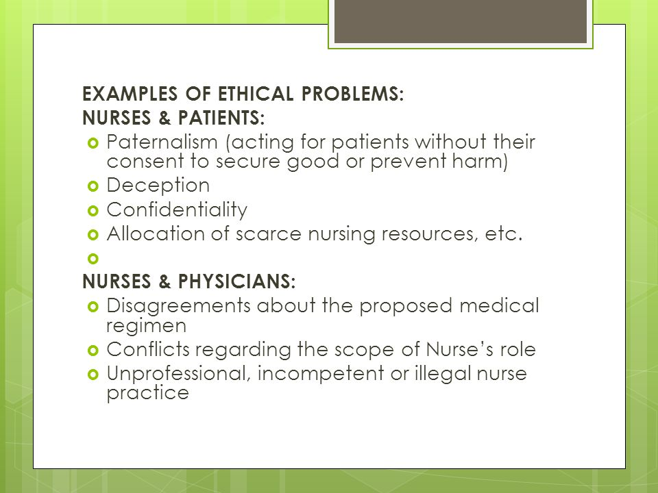 example of ethical problems and their solutions Implementing effective ethics standards in government and the civil service 1 for example, ethical problems faced by each in their.