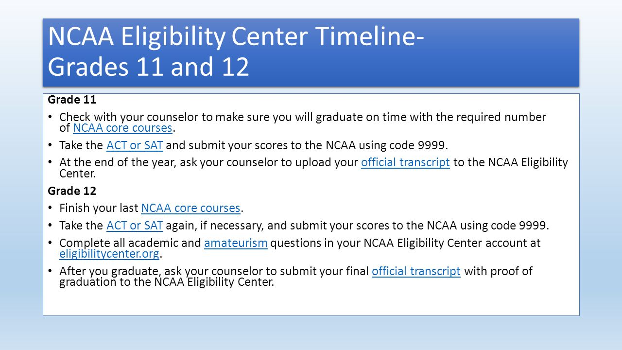 Initial Eligibility NCAA and NAIA Amy Dames Smith Assistant – Ncaa Eligibility Worksheet