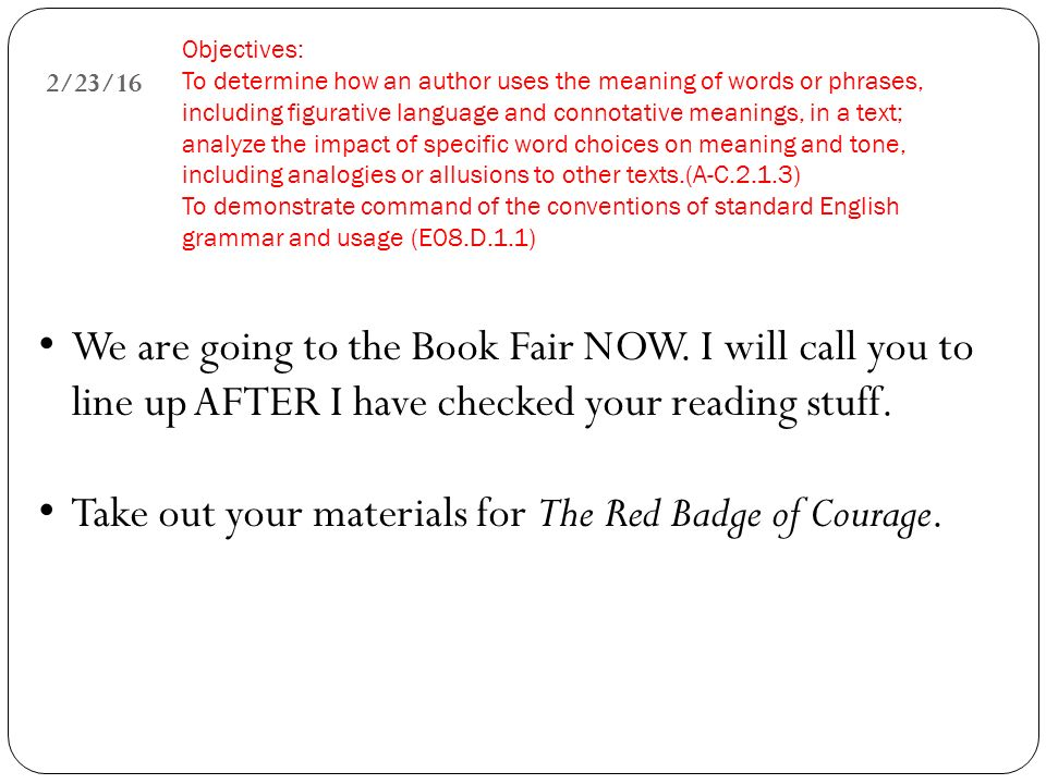 The red badge of courage tone essay