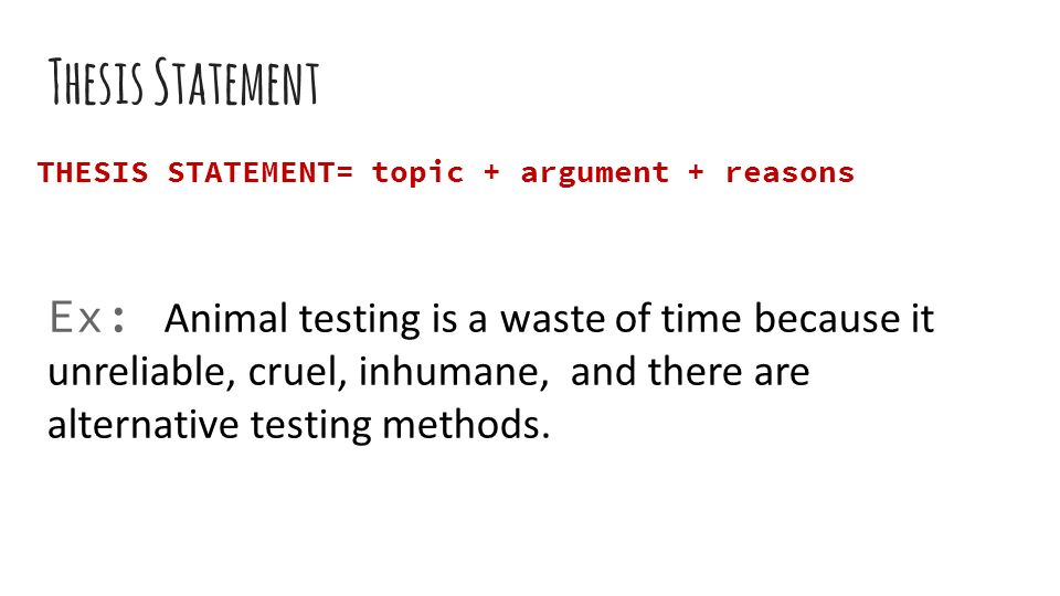 testing a thesis statement