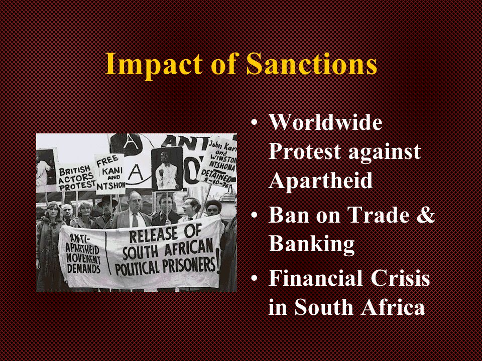 Impact of Sanctions Worldwide Protest against Apartheid Ban on Trade & Banking Financial Crisis in South Africa