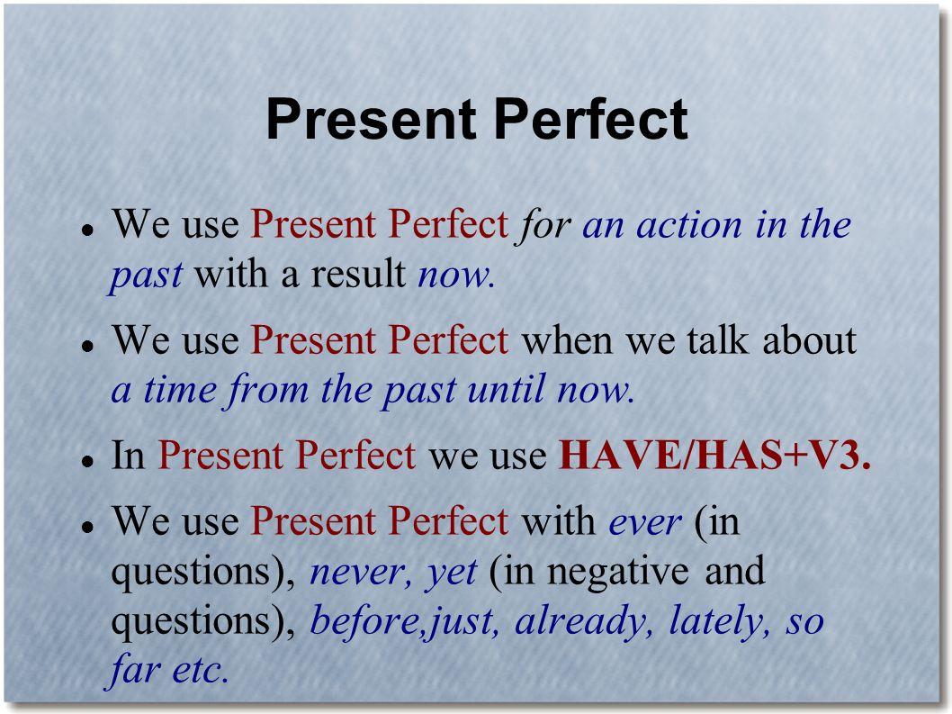 презентация present perfect скачать