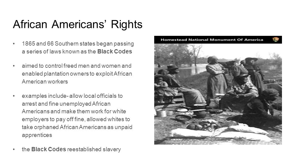 the reconstruction era gave african americans their freedom Education of african americans in the reconstruction after emancipation: education of african americans in of their newly won freedom.