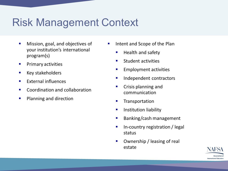 Developing Your International Risk Management Action Plan The – Management Action Plan Template