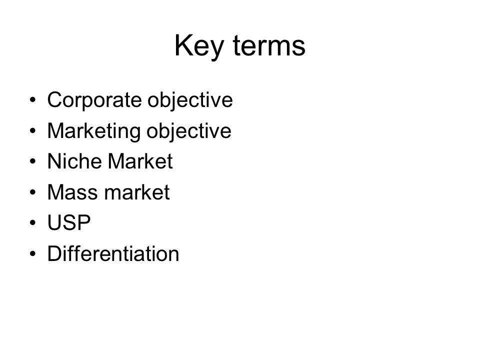 marketing key terms