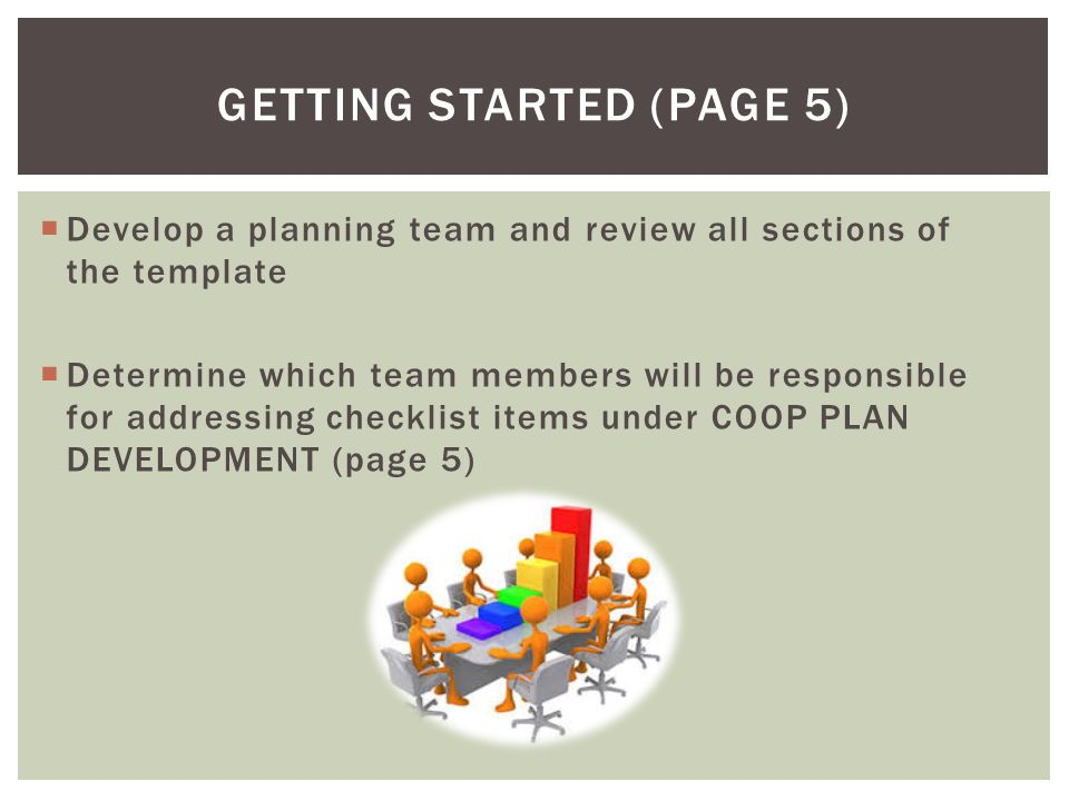 Continuity of Operations Planning (COOP) CONTINUITY PLANNING FOR ...