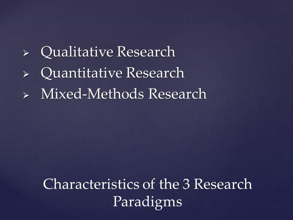 characteristics of qualitative research methods
