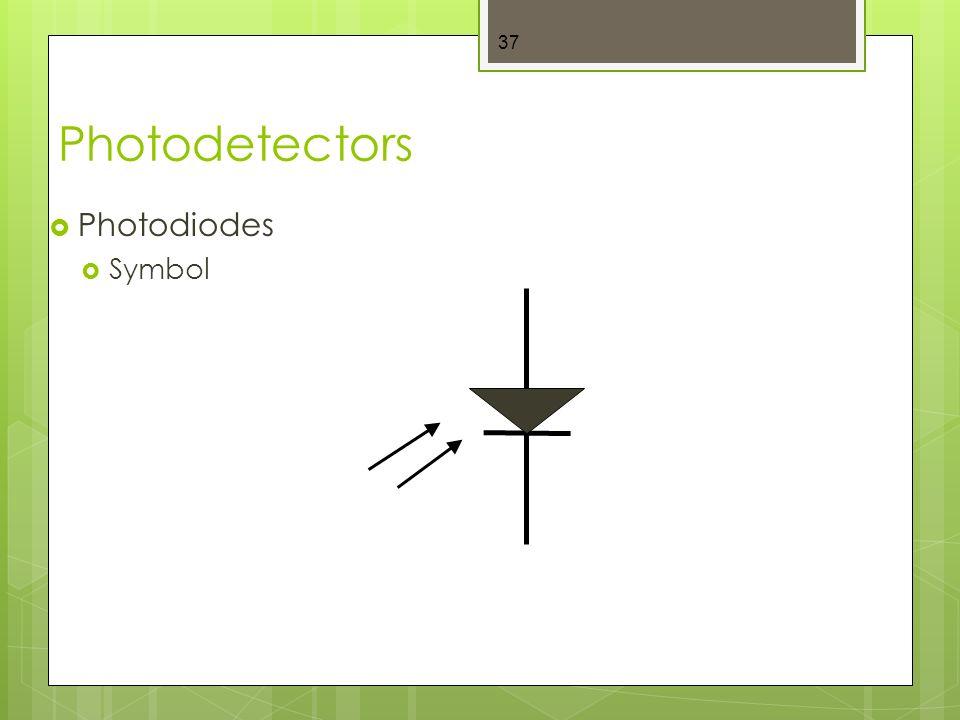 Photodetectors  Photodiodes  Symbol 37