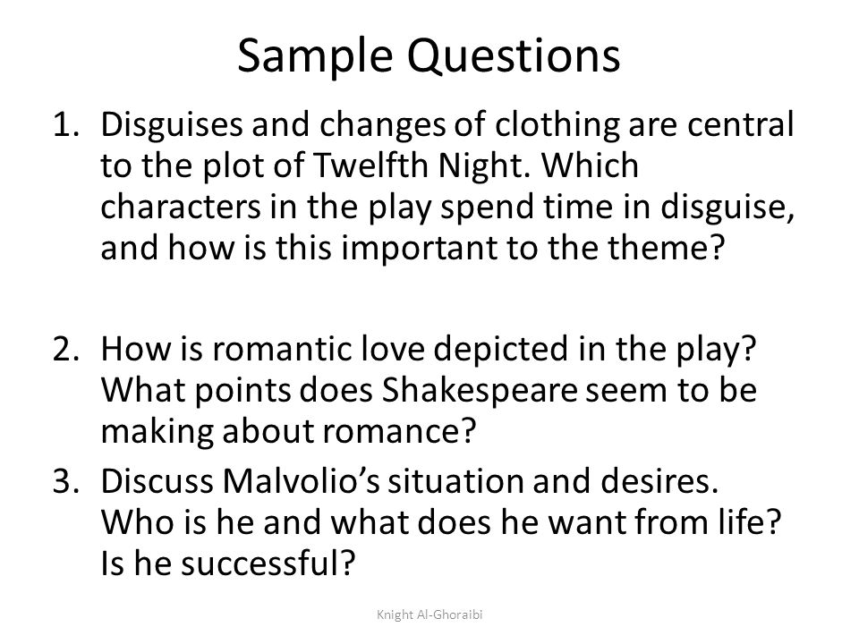Twelfth Night Essay Topics