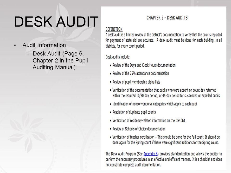 What Is A Desk Audit Ayresmarcus