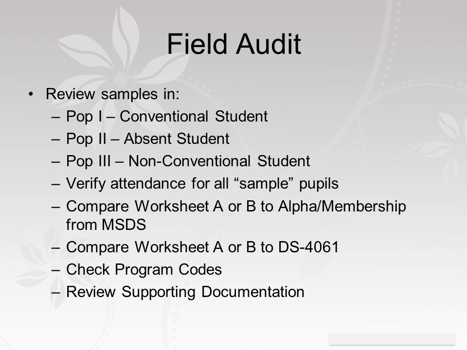 Intro to Pupil Auditing Rob Dickinson MPAAA and Barbette Lane – Msds Worksheet