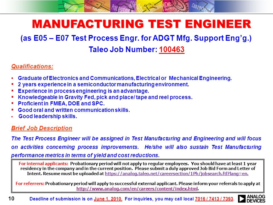 Equipment Engineer Equipment Engineer As EE Board