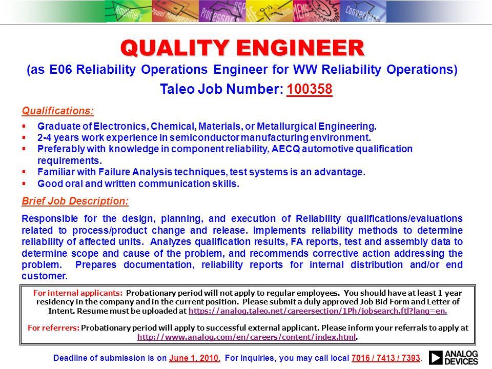 failure analysis engineer resume