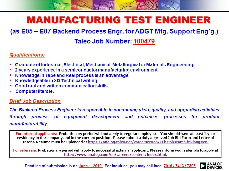 Equipment Engineer Equipment Engineer As EE Board Maintenance