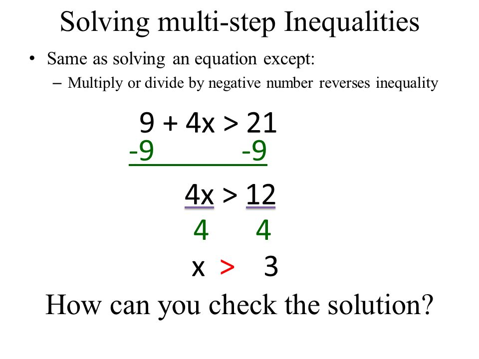 3.4 Solving multi-step inequalities. Is the following correct or ...