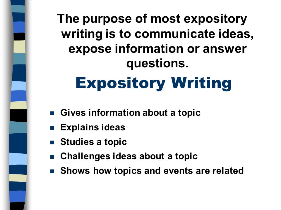 expository writing the five paragraph essay