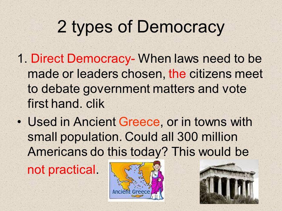 2 types of Democracy 1.