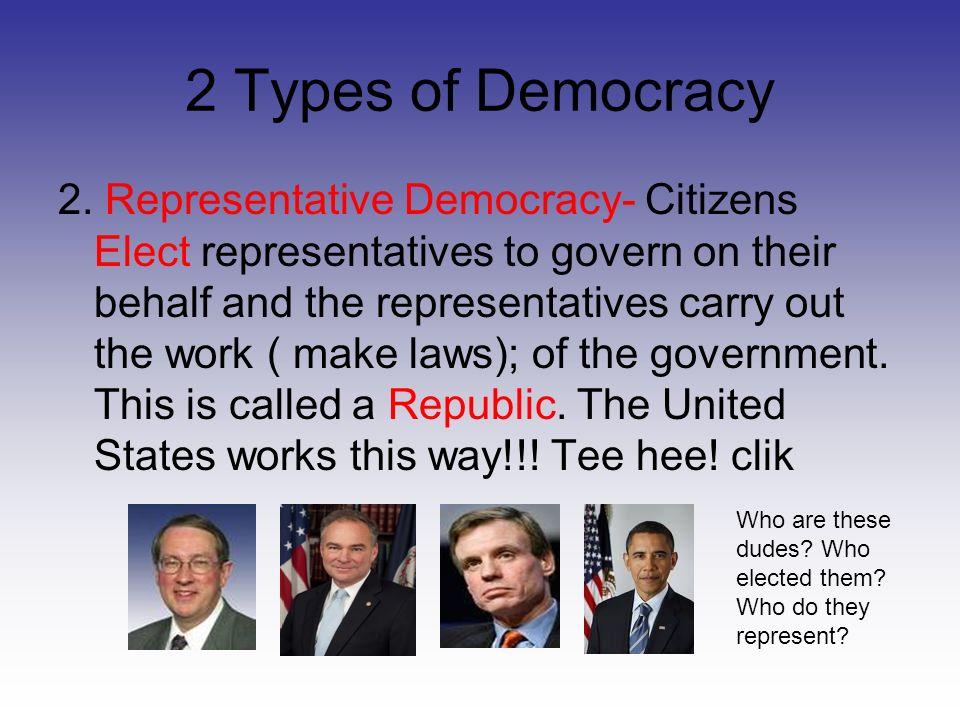 2 Types of Democracy 2.