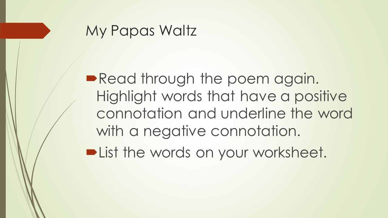 my papas waltz analysis
