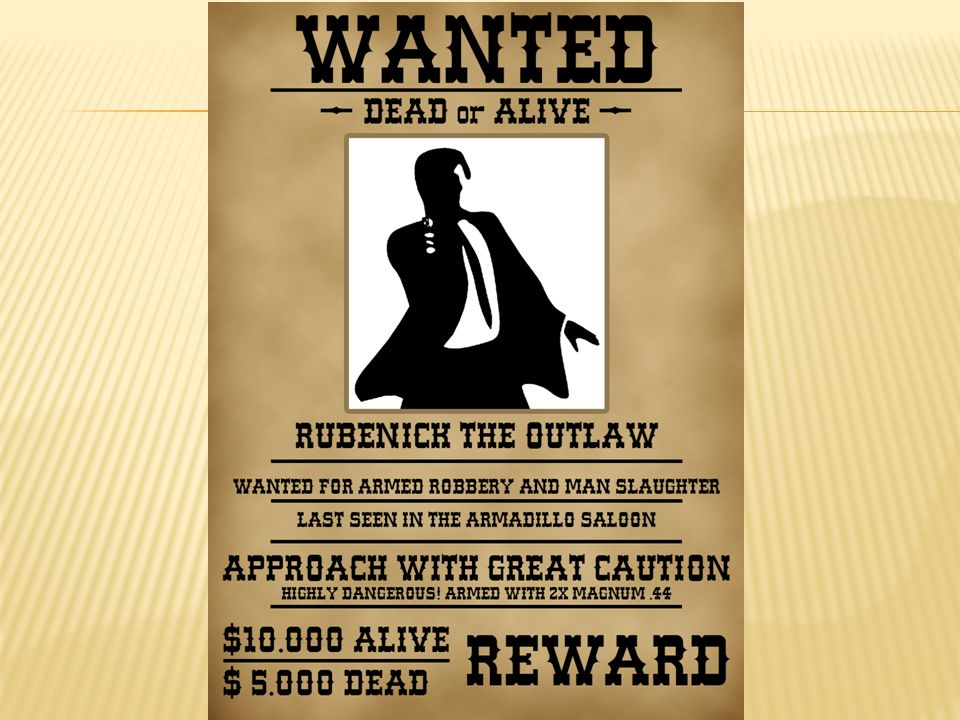 SlidePlayer  Example Of A Wanted Poster