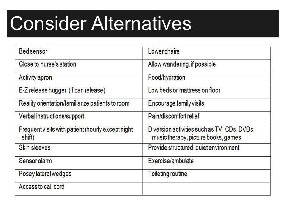 131 Consider Alternatives