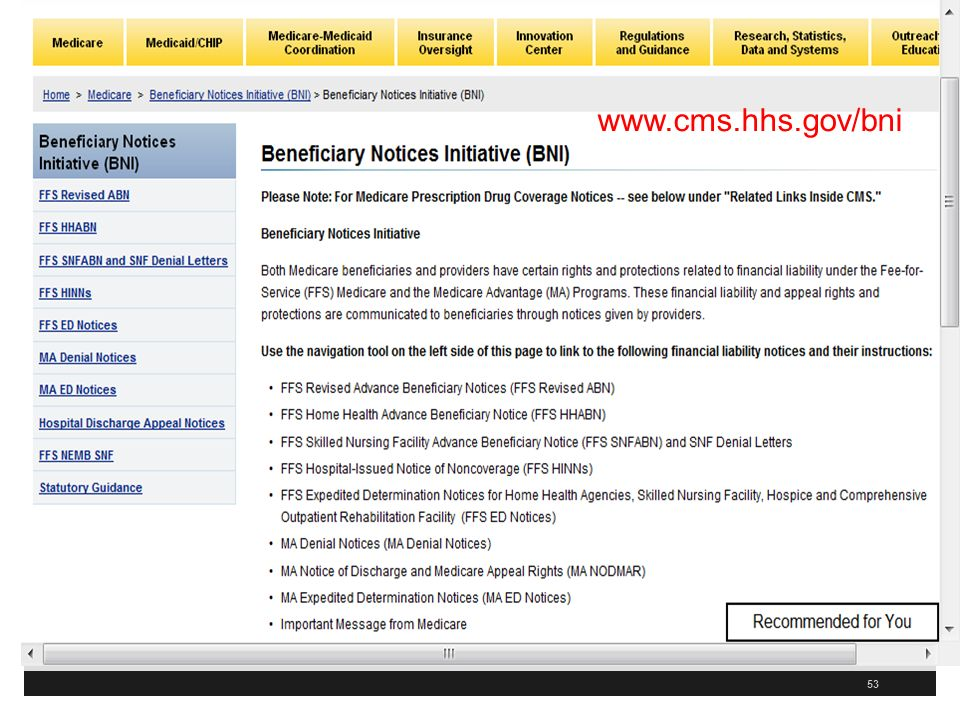 53 www.cms.hhs.gov/bni