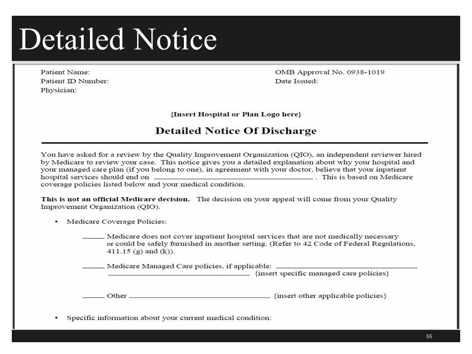 Detailed Notice 55