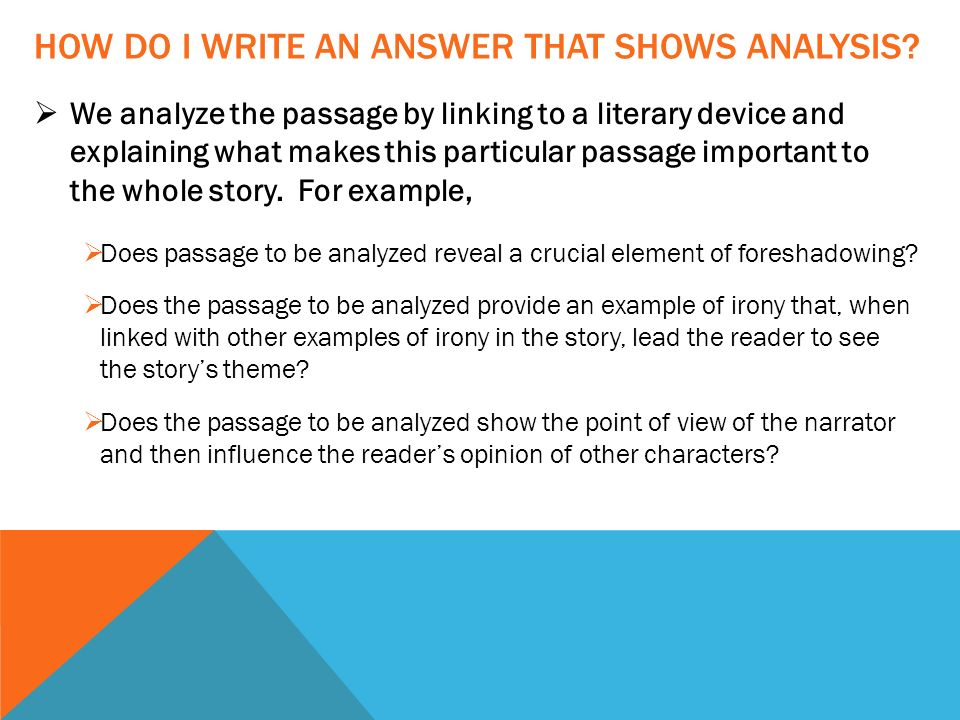 LITERARY ANALYSIS: ANSWERING QUESTIONS ABOUT IMPORTANT PASSAGES ...