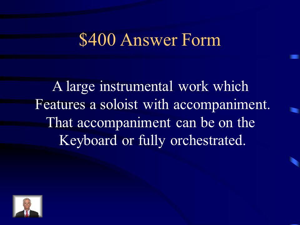 Jeopardy Forms Handel & Vivaldi Bach Instruments & Instrumental ...