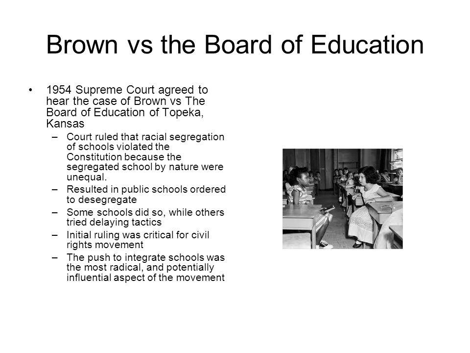 brown vs board of education exhibit essay