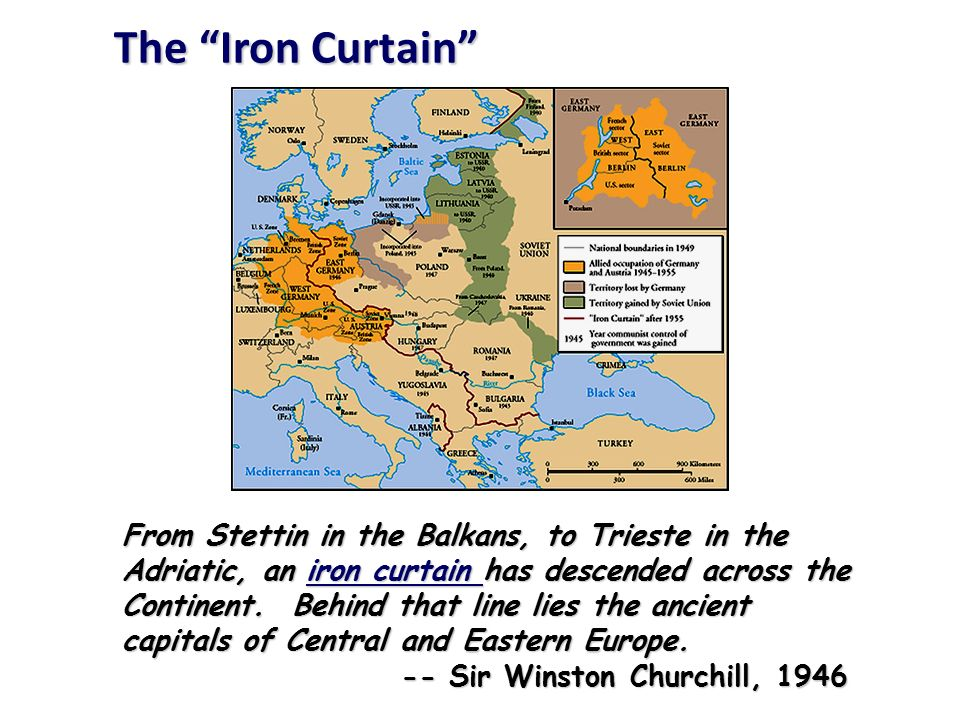 the ideological struggle soviet eastern bloc nations iron curtain us the western