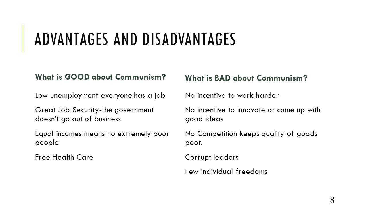disadvantages of communism Posts about advantages and disadvantages of communism written by millicentfaith.