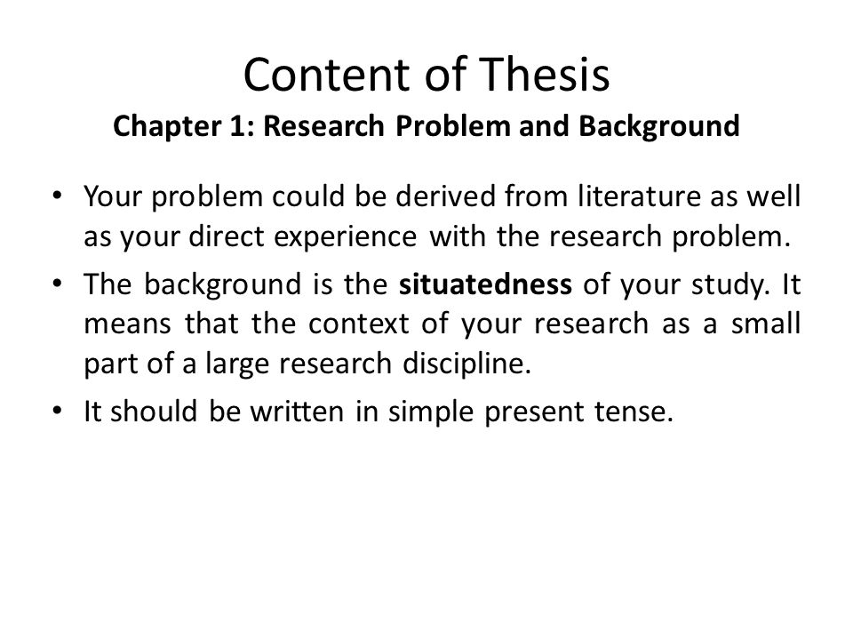 Research writing background of the study in thesis