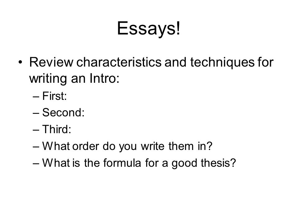 an essay on the characteristics and For your essay, you should look up the list that your book or teacher provides and describe six characteristics in as much detail as you can explain what each characteristic means and give examples of how each can be seen in real life.