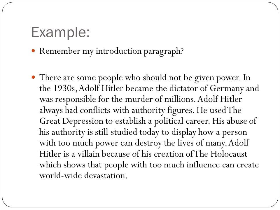I need help with my Intro Paragraph!!!!!!?