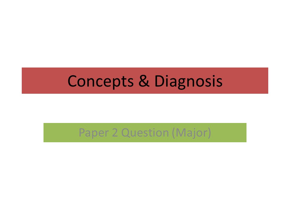 Concepts diagnosis paper 2 question major sources of info 1 concepts diagnosis paper 2 question major malvernweather Choice Image
