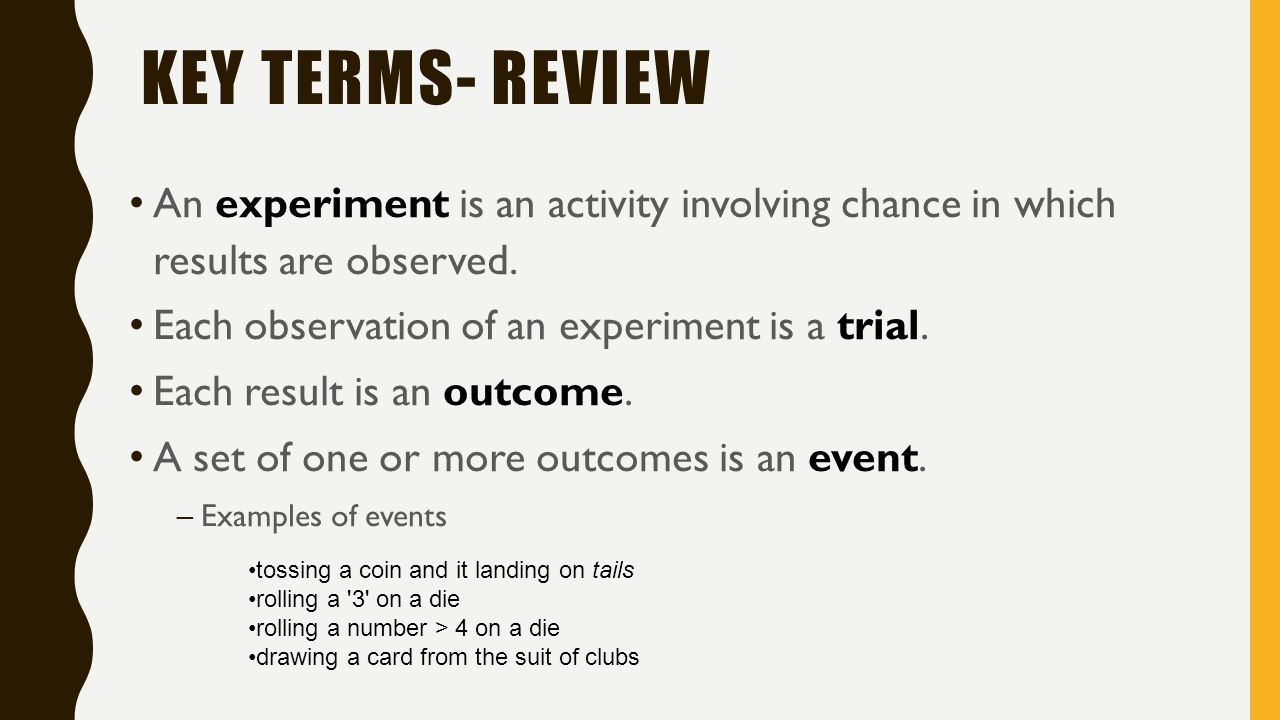 key terminology
