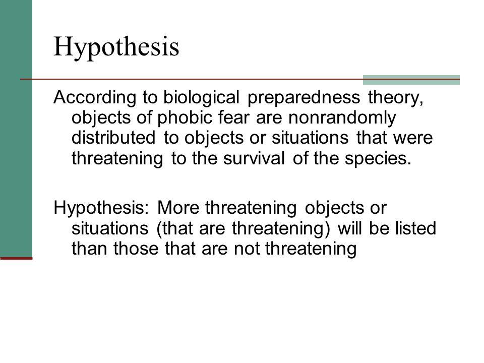 preparedness theory